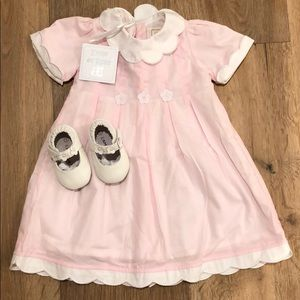 Emile et rose pink dress and matching shoes